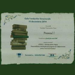 Fundația Tineri pentru Tineri a câștigat Premiul 1 la Gala Fondurilor